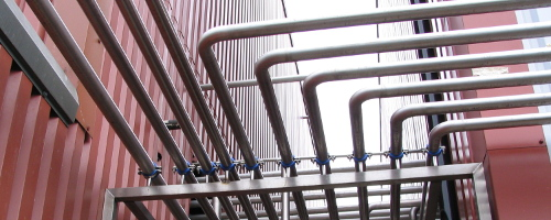 Brewery pipework
